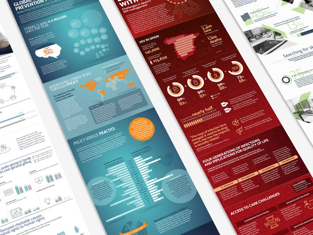Collection of professional infographic designs